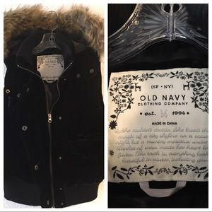 Old Navy Velvet Zip Front Vest